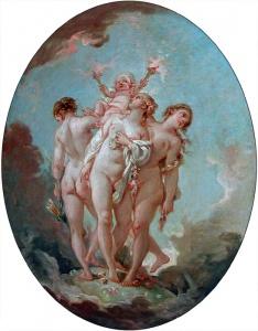 François Boucher : L'Amour : Les Grâces : Les Trois Grâces - Peinture de genre au XVIIIe siècle - Musée du Louvre