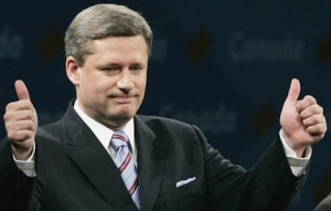 Stephen Harper, climato sceptique, est à l'origine des revers canadiens en matière de protection de l'environnement. DR