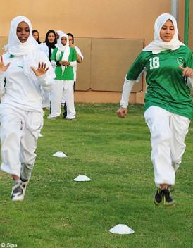 L'équipe de basket féminin de Jeddah united, seul club sportif saoudien doté d'équipes féminines. DR