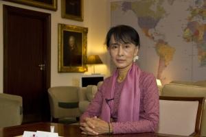 Aung San Suu Kyi icône politique en Birmanie Juin 2012 © Simon Davis/DFID