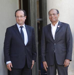 François Hollande et Moncef Marzouki
