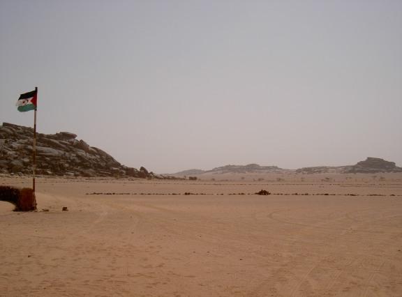 Frontière entre le Sahara occidental et le Maorc