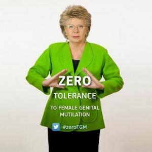 Vivianne Reding soutient la campagne ZeroFGM.