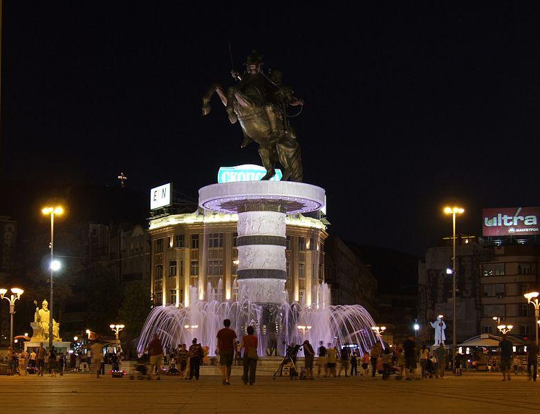 Monument d'Alexandre le Grand, à Skopje, Macédoine