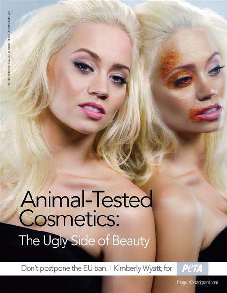 L'une des campagnes de l'association américaine PETA contre les tests sur les animaux.