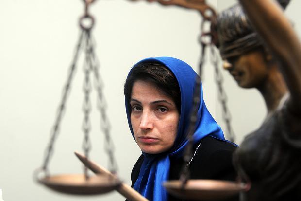 L'avocate des droits de l'homme Nasrin Sotoudeh, condamnée à 11 ans de prison en 2010.