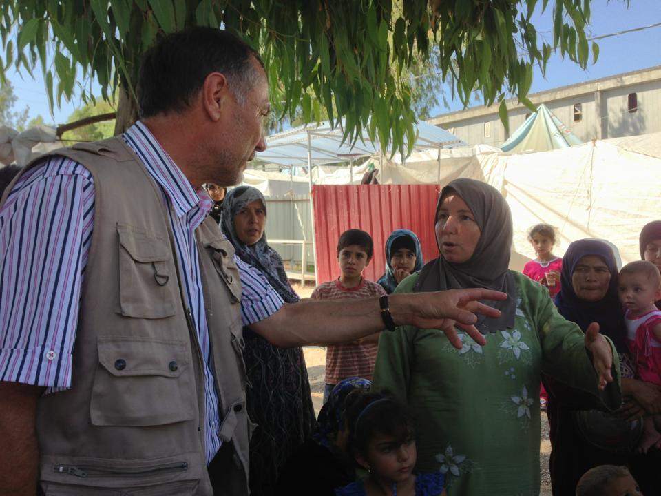 Jean-Marie Bockel en visite dans un camp de réfugiés syrien en Turquie en Août dernier