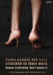 L'affiche d'une campagne contre le trafic sexuel, par la fondation Samilia.