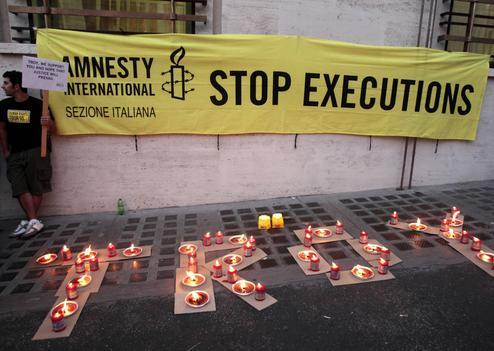 La communauté internationale s'est fortement mobilisée en 2011 contre l'exécution de Troy Davis.  AP/Gregorio Borgia