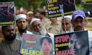 Des manifestatiosn de soutien aux rohingyas en Inde