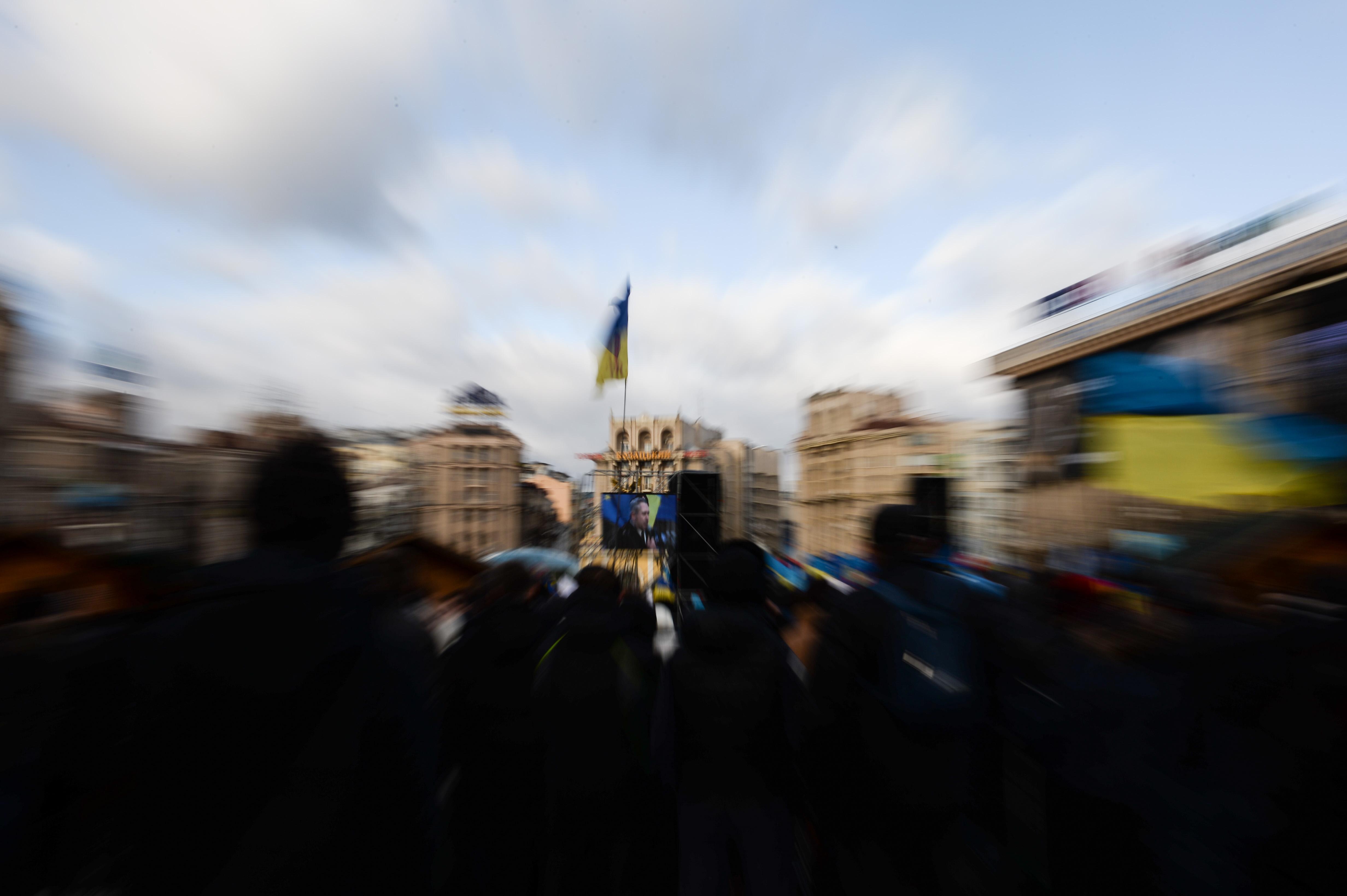 Manifestation sur la place Maïdan à Kiev © Allpix Press