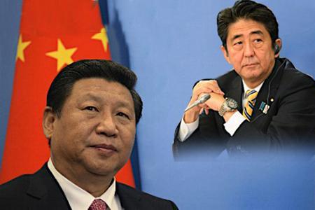 """""""Xi Jinping et Shinzo Abe"""""""