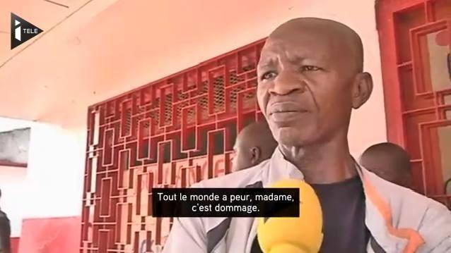 Mr Donatien Guimet, lors de son entretien avec iTélé, juste avant son enlèvement par des membres de la Séléka.