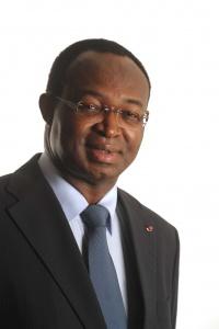 Anicet Georges Dologuélé, président du nouveau parti centrafricain, l'URCA, et candidat aux prochaines élections présidentielles.