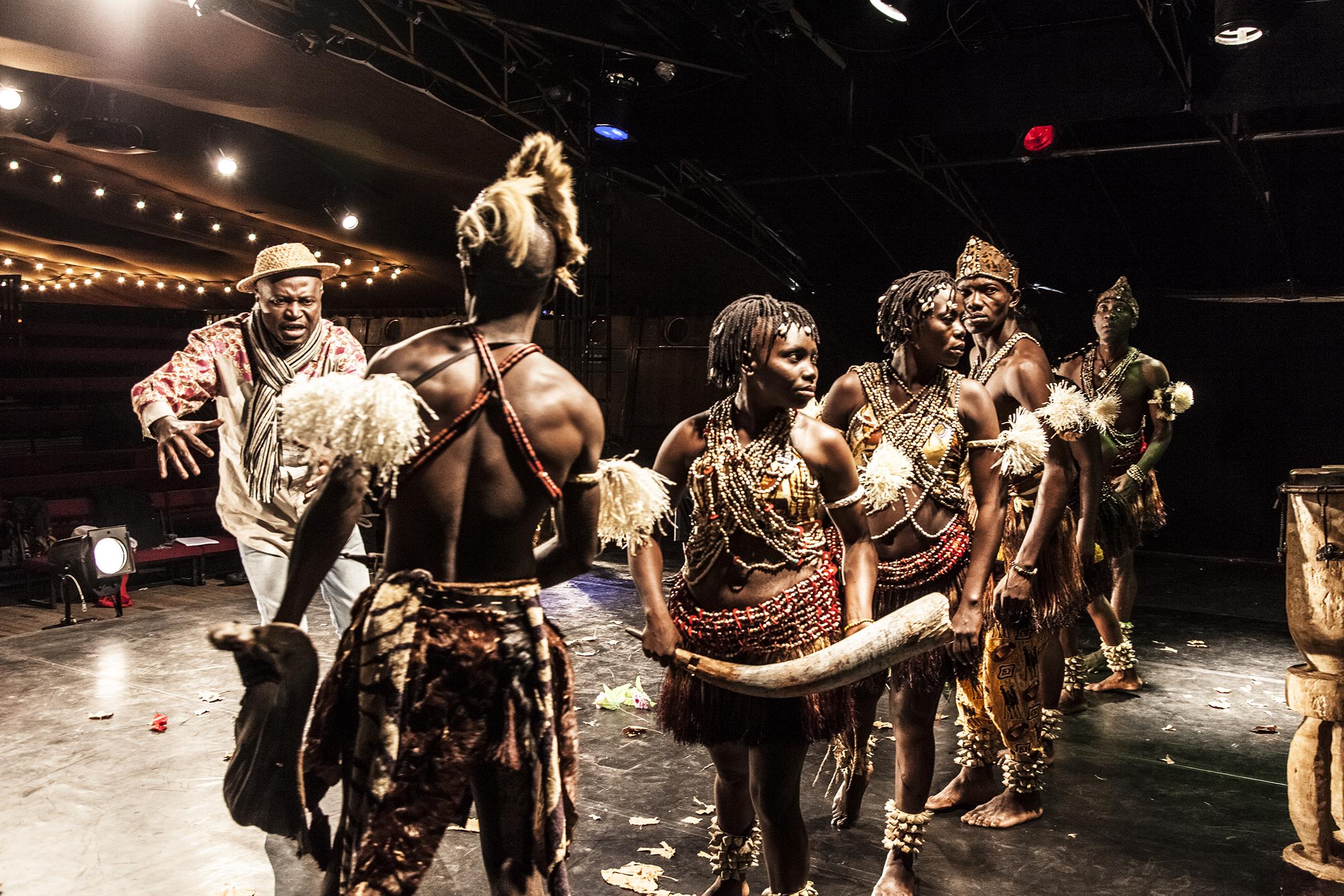 Vincent MAMBACHAKA -  Paris - France - 26/02/2014 Songo la Rencontre, spectacle écrit dans les deux langues sango et français mêlés, fut créé à Bangui il y a juste vingt ans grâce à l'association du Centrafricain Vincent MAMBACHAKA et du Français Richard DEMARCY
