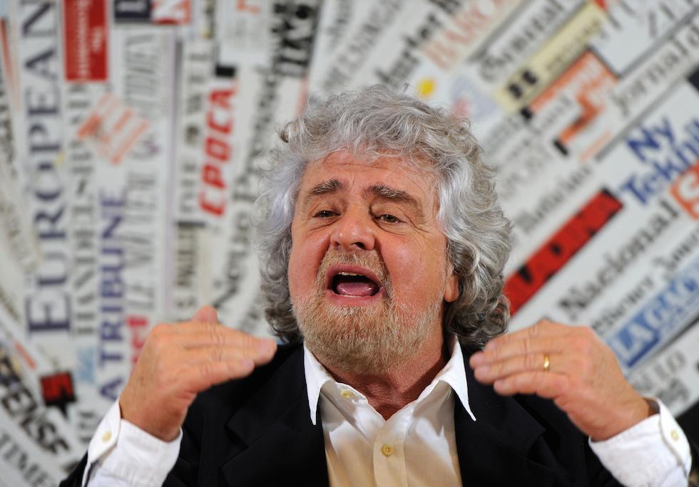 Beppe Grillo, fondateur et leader du « Mouvement 5 Etoiles », à Rome - 23 janvier 2014 © Tony Mondello / Allpix Press