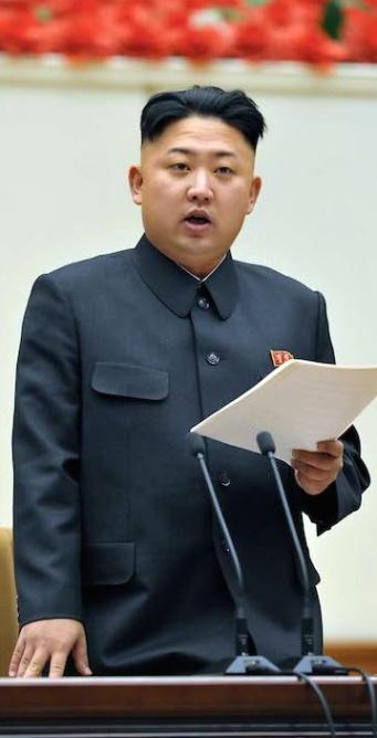 Kim Jong-un, le 28 janvier 2013 © Xinhua / Allpix Press
