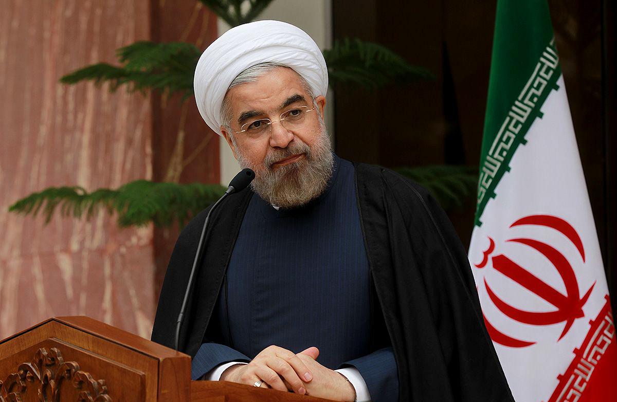 Le présiden iranien, Hassan Rohani, à une conférence de presse à Téhéran en novembre 2013 © Xinhua / Allpix Press