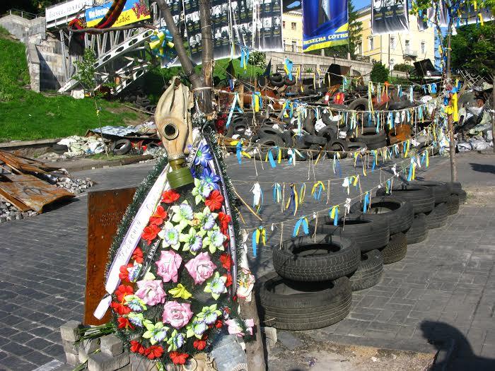 La place Maidan à Kiev est devenue un lieu symbolique depuis la chute de Ianoukovitch