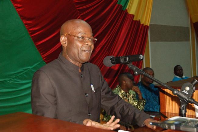 M. Laurent Gomina-Pampali à l'Assemblée nationale de la RCA à Bangui, mars 2014 © Alain Elorza