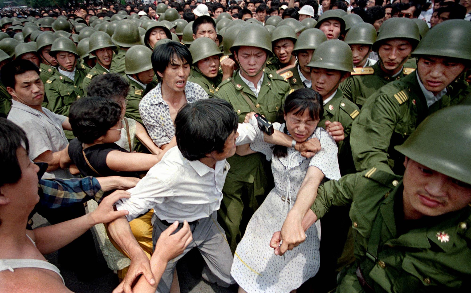 Manifestation étudiante sur la Place Tian'anmen 1989 © Jeff Widener