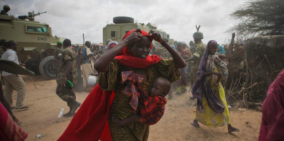 Camp de déplacés à Badbado en Somalie - 2012 © UN Photo / Stuart Price