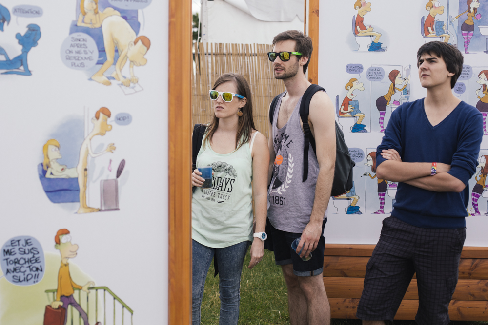 "L'exposition ""Sex in the City"" aux Solidays - source : solidays.org ; crédit : Alix Marnat"