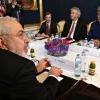 Muhammad Javad Zarif meets John Kerry during talks in Vienna.