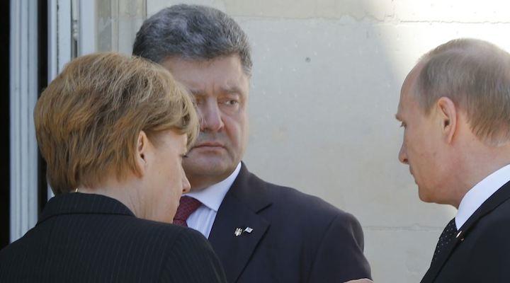 MerkelPorochenkoPutin
