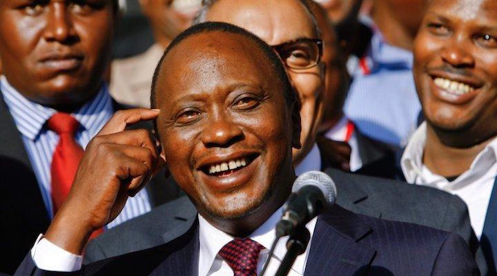 Kenyan president Uhuru Kenyatta is currently facing crimes against humanity charges at the International Criminal Court. © Daniel Irungu
