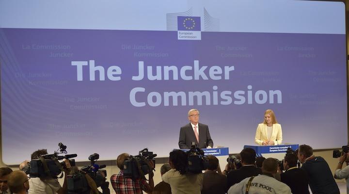 Jean-Claude Juncker et son porte-parole, Natasha Bertaud. © European Union, 2014