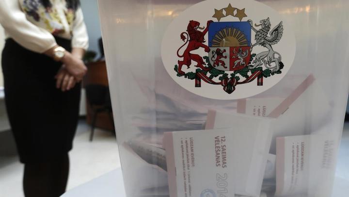 57% des Lettons se sont rendus aux urnes pour le renouvellement de leur Parlement, le 4 octobre 2014. © Ints Kalnins