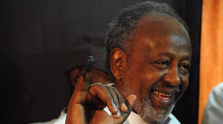 Le président djiboutien Ismaïl Omar Guelleh lors des élections de 2011 et le début de son 3ème mandat.