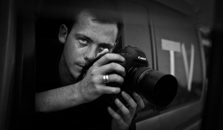 Rémi Ochlik, photographe de guerre français est mort le 22 février 2012 à Homs en Syrie © Lucas Dolega