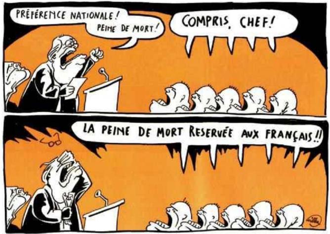 Dessin paru dans Charlie Hebdo
