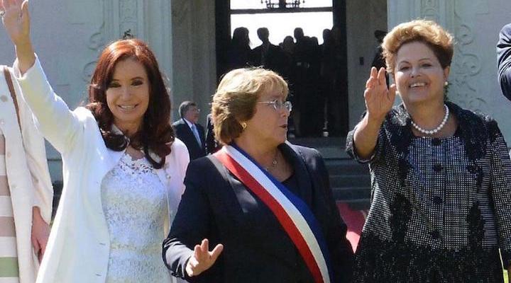 Trois présidentes : Michelle Bachelet au Chili, Christina de Kirchner en Argentine et encore Dilma Roussef au Brésil ©Télam