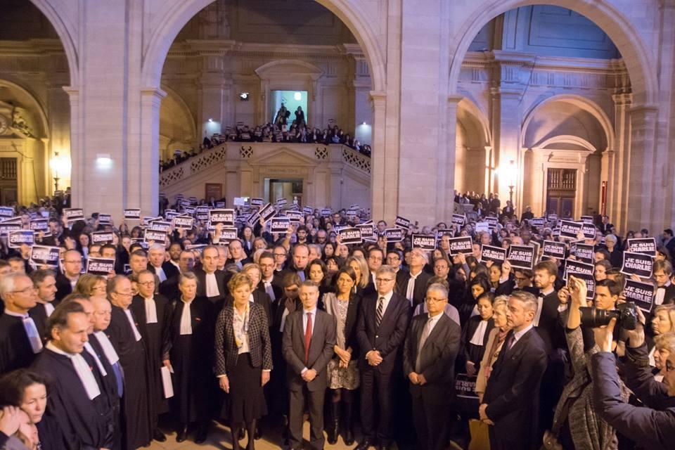 Recueillement et minute de silence au Barreau de Paris en hommage aux victimes de Charlie Hebdo