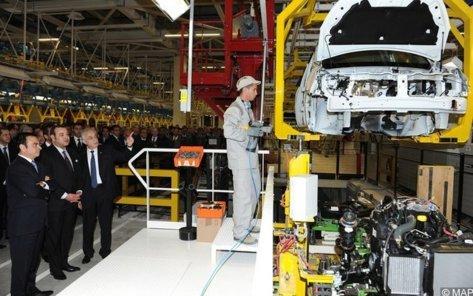 Inauguration de l'usine Renault en 2002 à Tanger par le Roi Mohammed VI et Carlos Ghosn