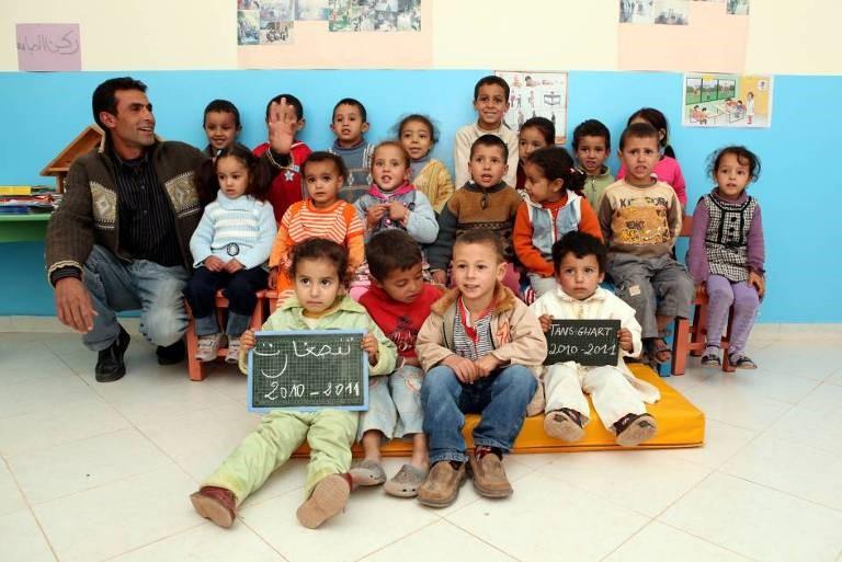 Classe de pré-scolaire dans la vallée d'Imlil