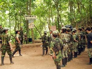 Camp des Forces armées révolutionnaires de Colombie (FARC).