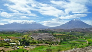 La région d'Arequipa, au sud du pays, dans laquelle se situe la province d'Islay, siège de la contestation du projet minier Tia Maria.