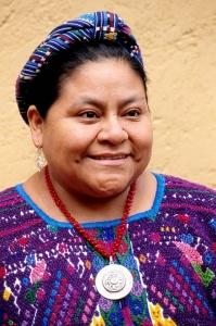 Rigoberta Menchu, prix Nobel de la paix en 1992.