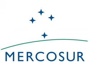 Logo du Mercosur (Marché Commun du Sud) regroupant désormais comme pays permanents l'Argentine, le Brésil, le Paraguay, l'Uruguay, le Venezuela et la Bolivie.