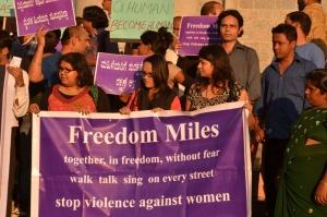 Manifestation contre la violence envers les femmes - crédit : Jim Ankan Deka / Wikimedia Commons