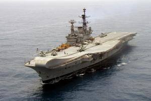 Le porte-avions INS Viraat - crédit : Indian Navy