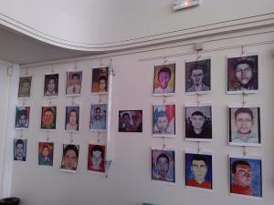 Portraits des étudiants disparus Crédit: Claire Plisson
