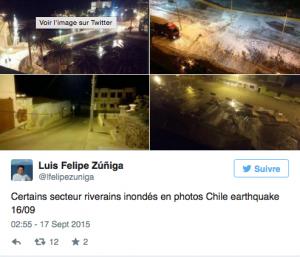 Capture d'écran du compte Twitter de Luis Felipe Zúñiga