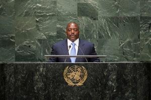 Le président Joseph Kabila à la tribune de l'ONU -  Crédit : UN Photo/Cia Pak