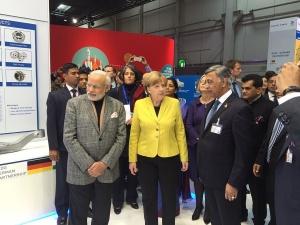 Angela Merkel et Narendra Modi - crédit : Gautam Karve Information /
