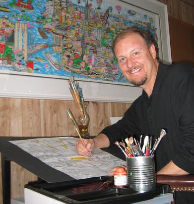 Charles Fazzino, artiste américain - Crédit : Julie Maner / Wikimedia Commons